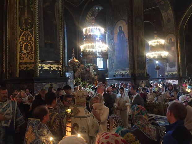 Сегодня Юлия Тимошенко крестила свою внучку
