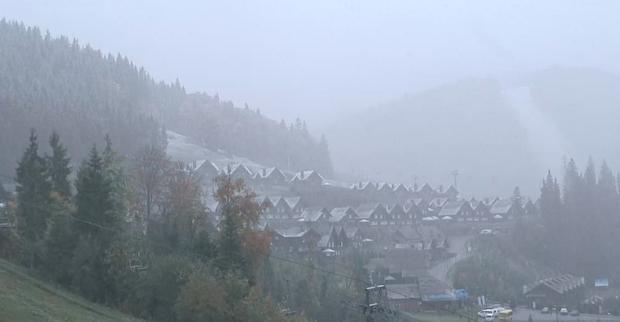 УКарпатах вночі випав перший сніг: Реакція соцмереж