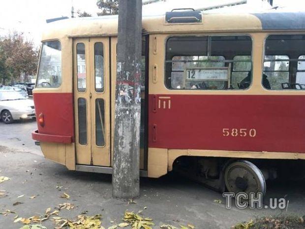 Трамвай, ДТП, Київ