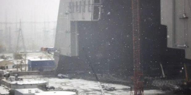 Чорнобиль, сніг