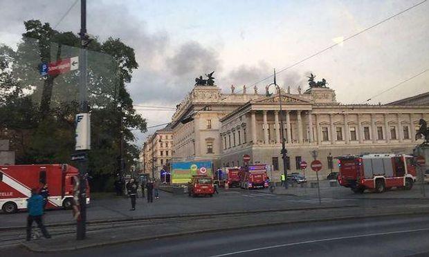 Австрія, пожежа, парламент
