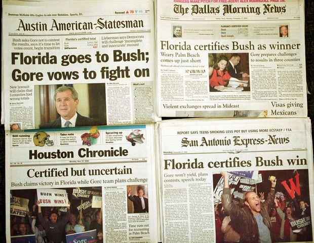 Буш переміг Гора завдяки 537 голосам у Флориді