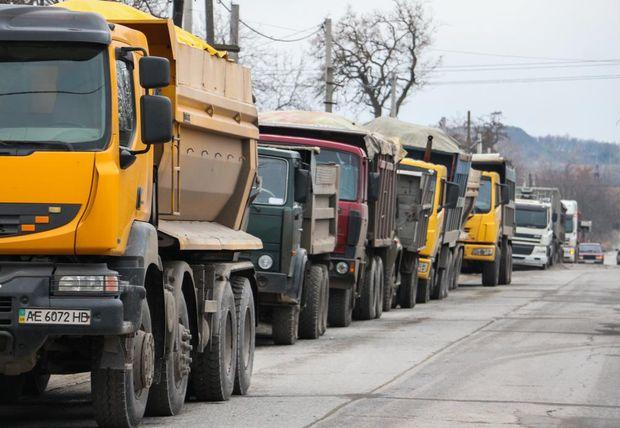 Вантажівки, протест, Дніпро
