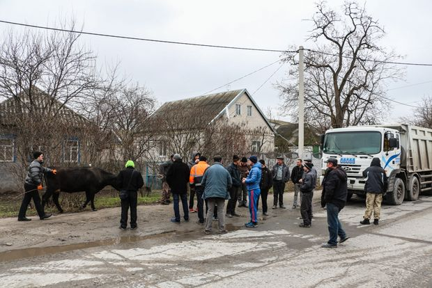 Под Днепром дальнобойщики перекрыли дорогу