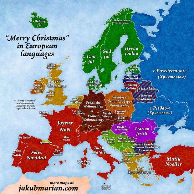 Карта, привытання, Різдво