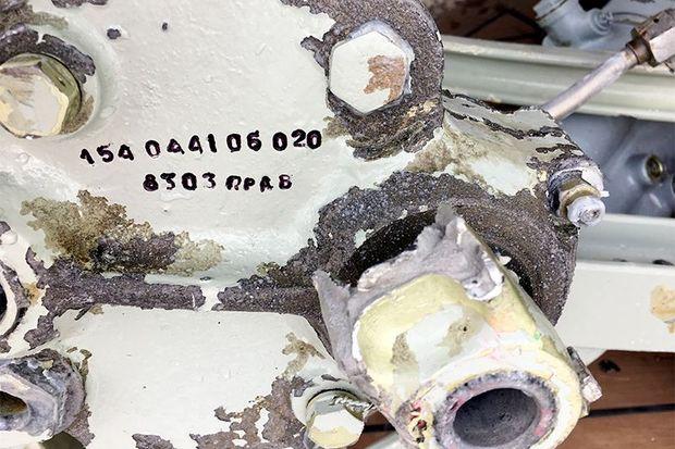 Ту-154, Катастрофа, уламки