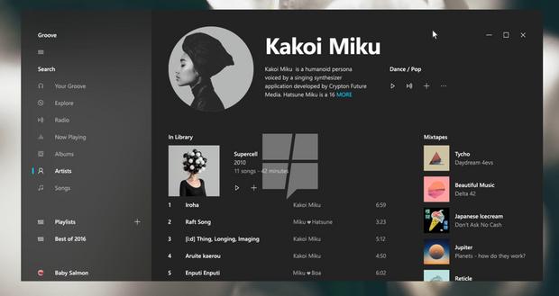 Windows 10, інтерфейс
