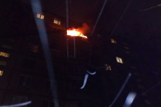 ВХарькове впожаре вмногоэтажке погибла женщина