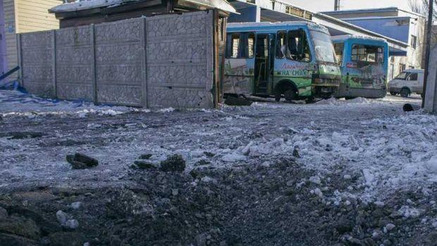 Донецьк, обстріли, автобуси