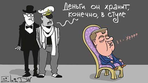 Медвєдєв, Копупція Росія