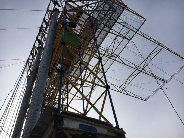 ВКиеве вандалы уничтожили канатный мост над Днепром
