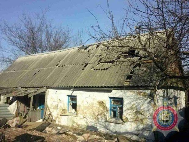 Будинок, артудар, Донбас
