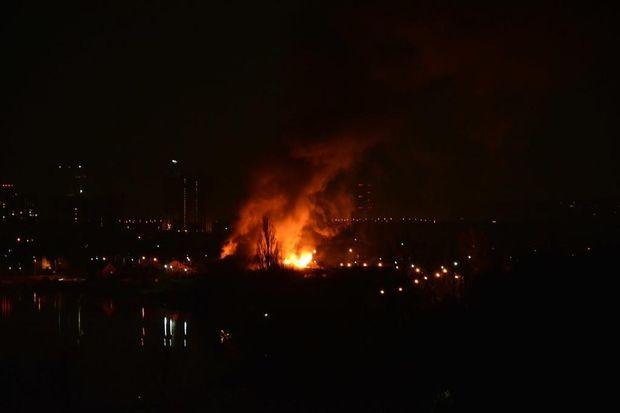 Пожежа, Київ, Лівий берег
