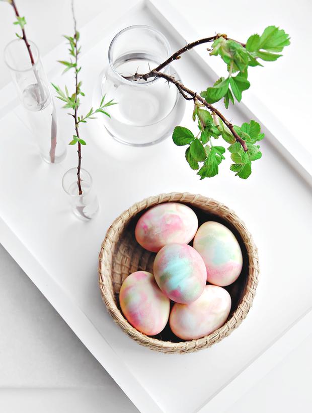 Пастельные пасхальные яйца - это просто