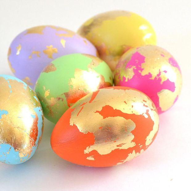 Золотые яйца к Пасхе