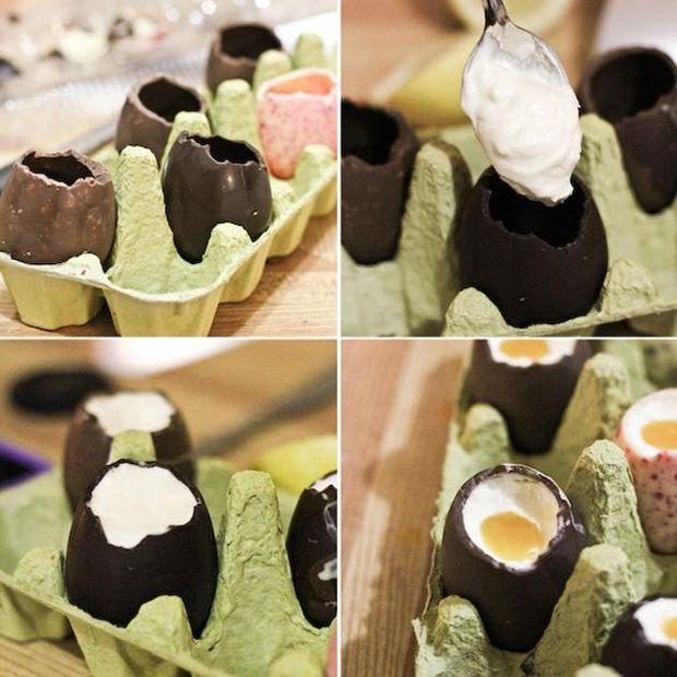 Шоколадные пасхальные яйца: простой рецепт