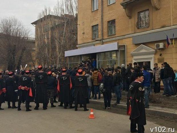 Сутички, Волгоград, Навальний