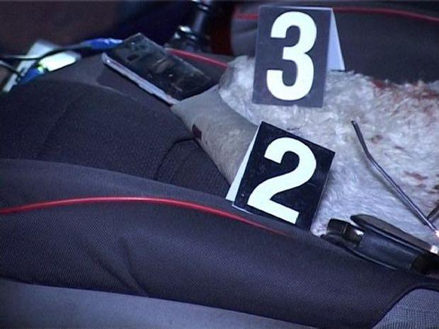 Фото з місця убиства таксиста