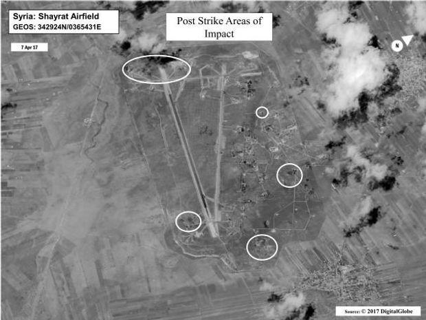 Ракетні удари по Сирії