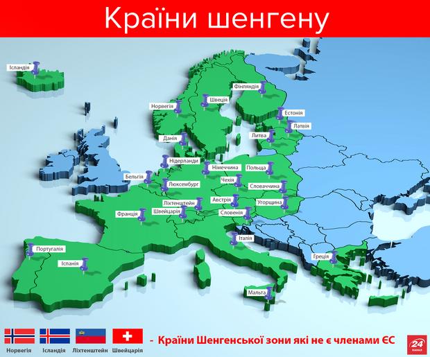 У Європу без віз: країни шенгену