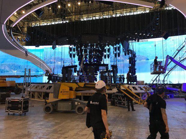 Монтаж головної сцени Євробачення-2017
