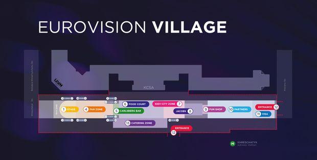 Макет офіційної фан-зони Євробачення-2017