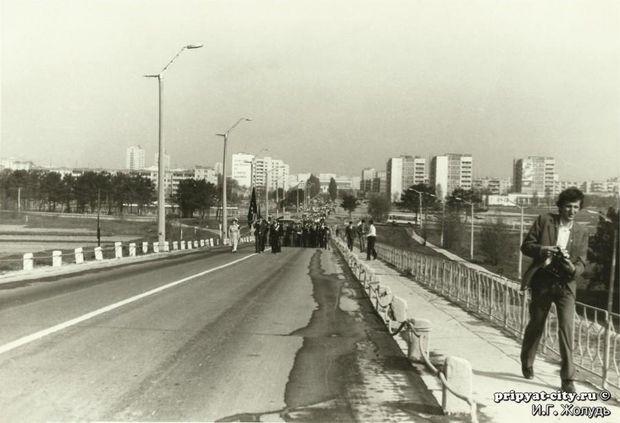 Прип'ять, Чорнобиль, міст смерті