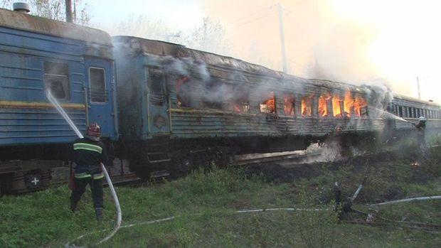 Пожежа у пасажирському вагоні у Львові