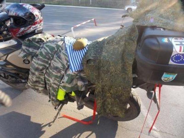 В Україну не впустили байкера з Росії з камуфльованим одягом