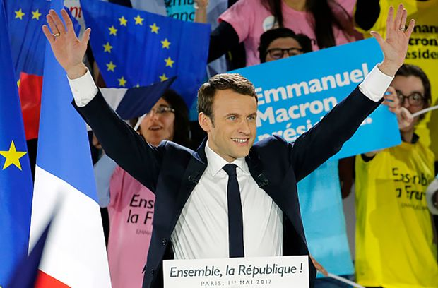 Вибори президента Франції 2017: Макрон лідирує