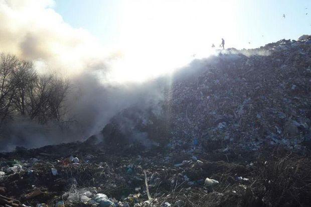 Горіли 700 м кв сміття