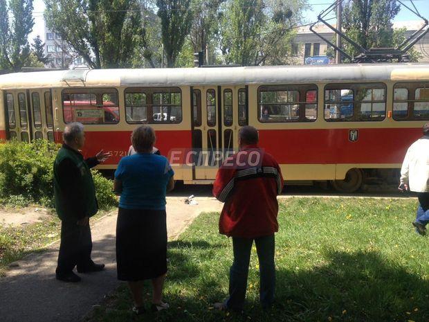 Трамвай, Київ, ДТП
