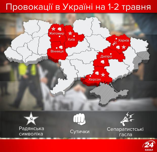 Провокации на 1-2 мая в Украине