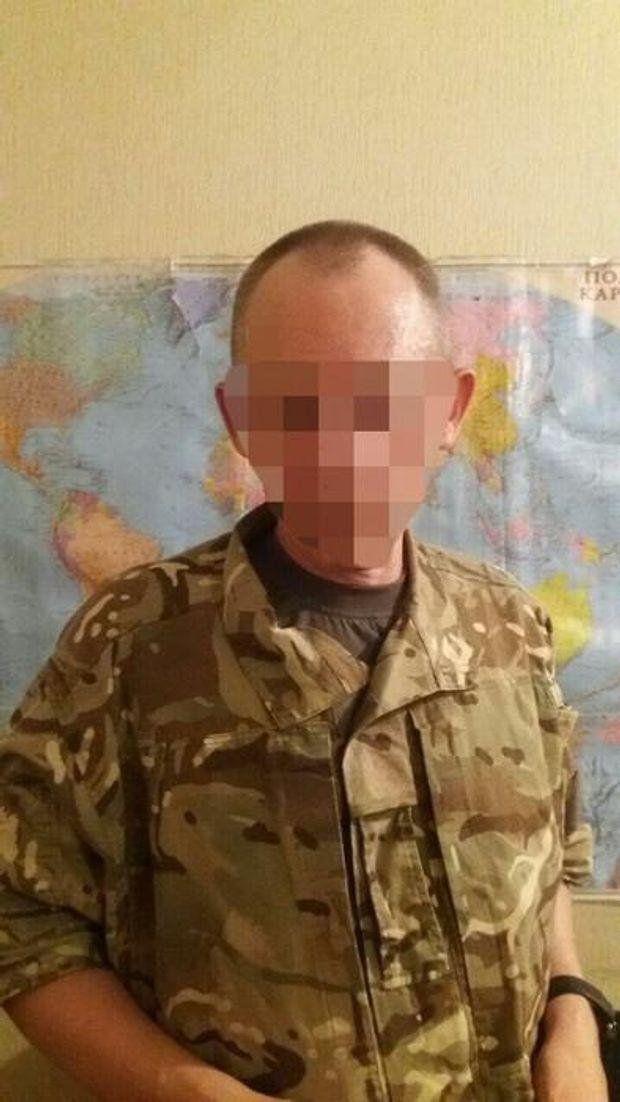 Затриманий військовослужбовець ЗСУ, що воював на стороні бойовиків