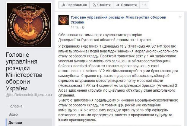 Розвідка повідомляє про злочини бойовиків на Донбасі