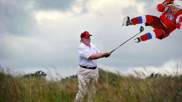 Трамп грає Путіним у гольф
