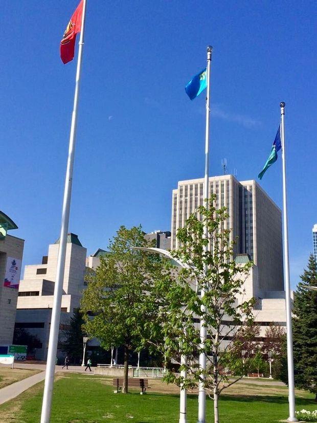 Кримськотатарський прапор в Канаді