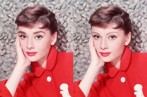 Одрі Хепберн із тонкими бровами