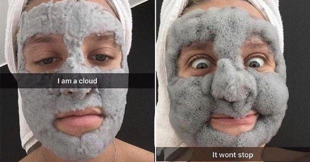 Маска, яка перетворюється на хмару
