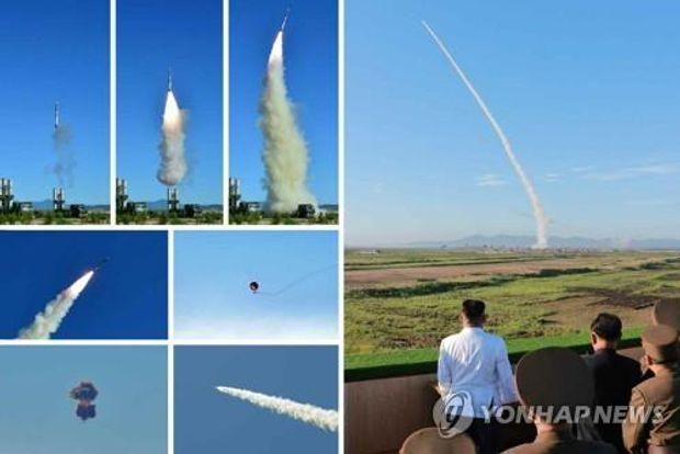 Кім Чен Ин спостерігає за запуском ракет