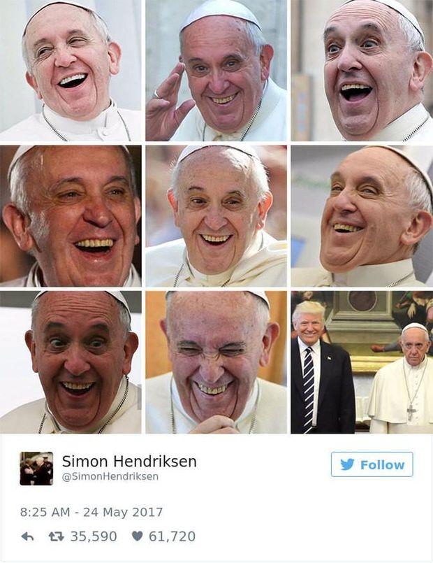 Емоції Папи Римського