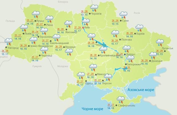Прогноз погоди в Україні на 31 травня