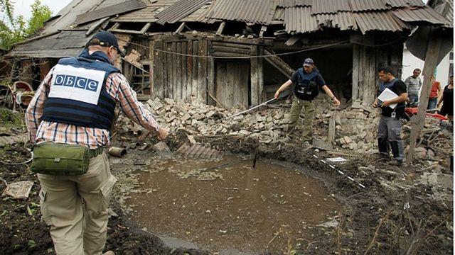ОБСЕ заявила о потере из-за обстрела своего беспилотника на Донбассе